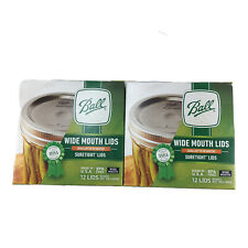 Ball Wide Mouth Canning Lids 2 Box Of 12 (24 Lids Total) Brand New Sealed