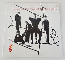 SPANDAU BALLET Through The Barricades LP Vinyl Record 1986 Org. SBP 8214