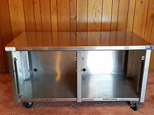 "Emi Industries Enclosed Stainless Steel Table 60"" Long 30"" Deep 33.5"" Tall"