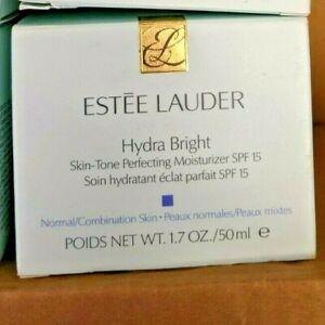 NIB Estee Lauder HYDRA BRIGHT Skin Tone Perfecting Moisturizer 50ml/1.7oz SPF 15