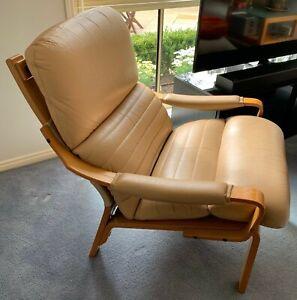 Tessa Furniture Austin Leather Armchair - Retro - Australian Made