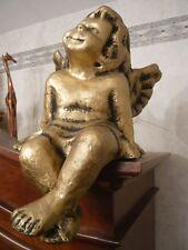 Großer Engel Kantenhocker gold Schutzengel Deko Putte wunderschön