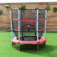 4.5FT Junior Kid Trampoline Safety Net&Skirt Kids Toddlers Indoor/Outdoor 55Inch