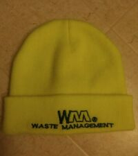 Waste Management Beanie Hat Neon Yellow Uniform ONE SIZE FIT ALL