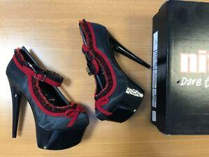 Nitelife Chloe Satin High Heels Pole Dancing Stiletto Slip On Shoes UK Size 4