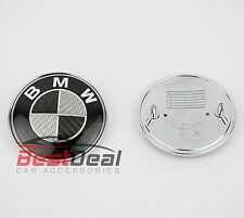 BMW E46 E90 E93 E39 E30 CARBON BLACK BACK BOOT BADGE LOGO EMBLEM 74 mm