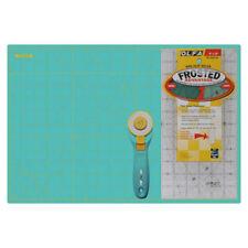 "OLFA Aqua Set, 12x18"" Auto-guérison Mat, 6x12"" antidérapant Ruler, 45 mm Rotary Cutter"