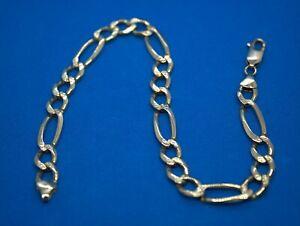 Solid 9 Carat Gold Hallmarked Bracelet 23.5cm 13 grams