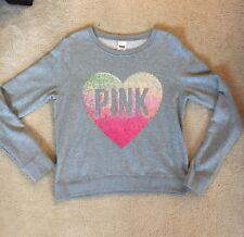 Victoria's Secret PINK Sequin Heart Sweatshirt