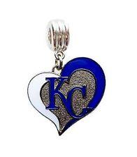LOVE KC KANSAS CITY ROYALS BASEBALL CHARM PENDANT NECKLACE EUROPEAN BRACELET