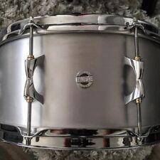 Inde Drum Labs Aluminum Snare Drum. 14X6.5 With S-hoop Top Hoop. Make Offer!!