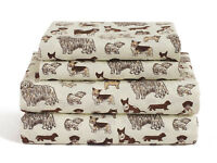Twin, Full, Queen or King Dog Sheet Set Microfiber Puppy Pet Animal Lover Gift