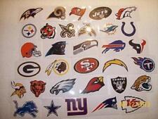 NFL LOGO STICKERS~COMPLETE SET ALL 32 TEAMS OFFICIAL LICENSED