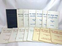 The Spoken Word W.M.Branham VOL.'s 18, 19 & 20 Lot of 15 Booklets  Prophet Cult