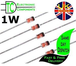 1W Zener Diodes DO-41 1N4726-1N4756 (2V7-47V) available 10 PACK UK Stock