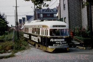 Pittsburgh Railways PRCo PCC Streetcar #1664 Original Slide Fly Mowhawk