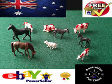 8 HO SCALE MODEL REALISTIC FARM ANIMALS  LITTLE PEOPLE FIGURES LOCOMOTIVE 1:87