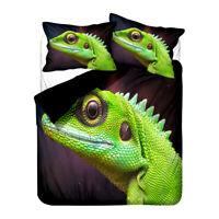 Novelty Holiday Gift Chameleon Lizard Frog Kiss Me Bedding Duvet Quilt Cover Set