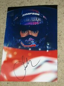 LEAH PRITCHETT NHRA DRIIVER SIGNED 8X12 PHOTO coa