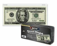 Fits up to 6 1//4 x 2 5//8 NOTES 100 BCW Currency Sleeves for Regular Sized Bills
