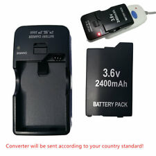 PSP 2000 3000 (SLIM) Replacement Battery Packs 3.6v 2400 mAh +AC WALL Charger