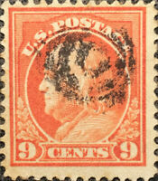 Scott #415 US 1914 9 Cent Franklin Perforated 12 Postage Stamp