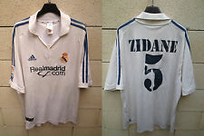 VINTAGE Maillot REAL MADRID camiseta ADIDAS shirt ZIDANE n°5 XL ancien collector