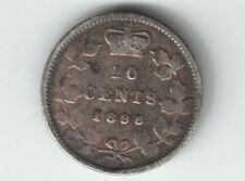 CANADA 1898 TEN CENTS DIME QUEEN VICTORIA STERLING SILVER COIN CANADIAN