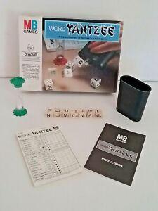 Word Yahtzee a word game Milton Bradley Vintage Retro 1981 Complete Game