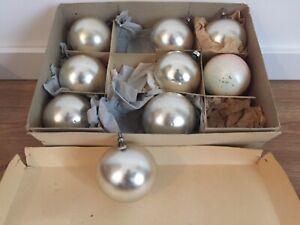 Vintage  Weihnachtskugeln Christbaumkugeln Baumschmuck tannenbaumkugeln matt