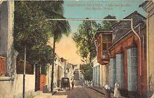 Santiago De Cuba 1916 Postcard Calle San Basilio Street