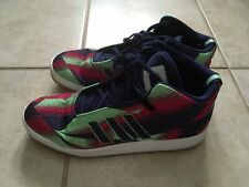 adidas Men's Sneakers Sz 10.5M Fitfoam Mid Hi Top Magenta Lime Green Joker Color