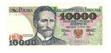 UNC POLAND 10000 Zlotych (1987) P-151 Prefix F Banknote Paper Money