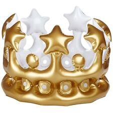 2 Stück Aufblasbare Krone Königskrone Kronen Kaiserkrone Fasching Karneval Deko