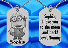Minion Dog Tag Necklace for Kids, Personalized FREE with NAME!