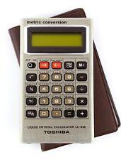 TOSHIBA LC-838  VINTAGE METRIC CONVERSION SCIENTIFIC CALCULATOR JAPAN RARE CASE