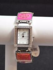Jilzara Blossom Square Watch Polymer Clay Inlays Stretch Band Handmade Artisan