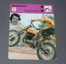FICHE MOTO ROGER DE COSTER MOTOCROSS 250 500 CC PILOTE COURSES BELGIQUE BELGIË