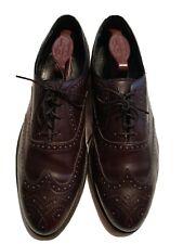 Vintage Florsheim Imperial Comfortech Brown Leather Wingtip Shoes Men's 10 B