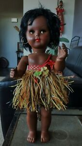"""Ratti beautiful coloured dark skinned 1950's doll 15"""" made in Italy"""