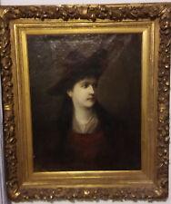 seltenes Portrait von Mary Vetsera, Öl auf Leinwand um 1888,