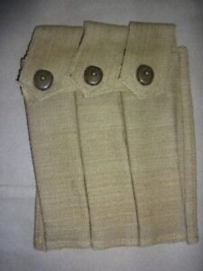US WWII Thompson SMG Three Cell 30 Round Magazine Pouch - Reproduction Jd627