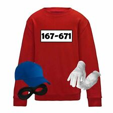 Sweatshirt Panzerknacker Kids Wunschnummer Kostüm-Set Karneval Kinder 104 - 164