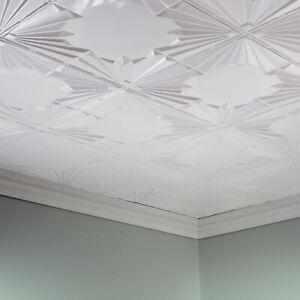 Fasade - 2ft x 4ft Art Deco Glue Up Ceiling Tile/Panel (5 Pack)
