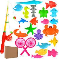 Kids Children Bath Time Magnetic Fishing Game Set Toy Rod Hook Catch Gift Fun