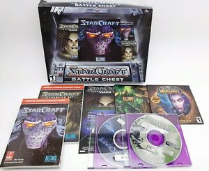 Vintage Blizzard Star Craft Battle Chest With Expansion Brood War PC Game Works