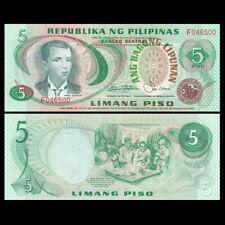 Philippines 5 Pesos, ND(1978), P-160c, Sign 9, UNC