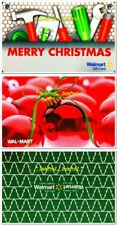 3x WALMART MERRY CHRISTMAS TREE RED ORNAMENT TOOLS COLLECTIBLE GIFT CARD LOT