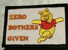Winnie the Pooh Zero Bothers Given Morale Patch Tad Pdw Motus Go ruck Gear