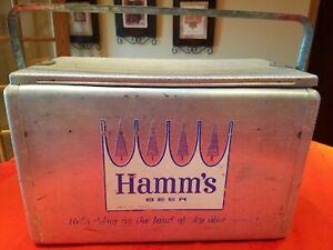 "Vintage Hamm's Beer 22"" Aluminum Cooler Retro ~ MADE USA"